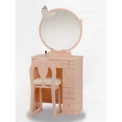 24一面鏡 ミルキー ピンク色