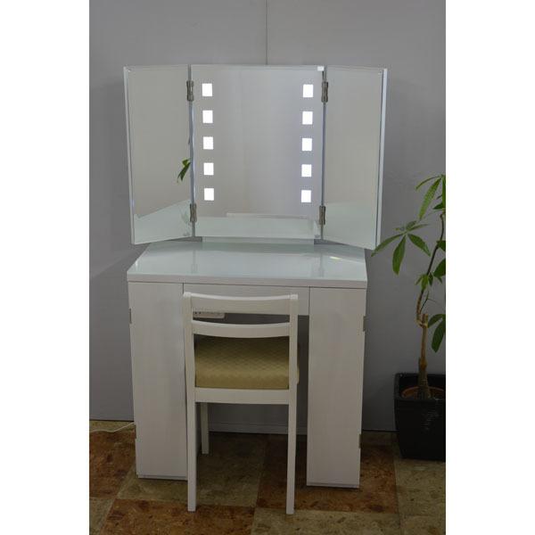 LED照明付き三面鏡アポロン