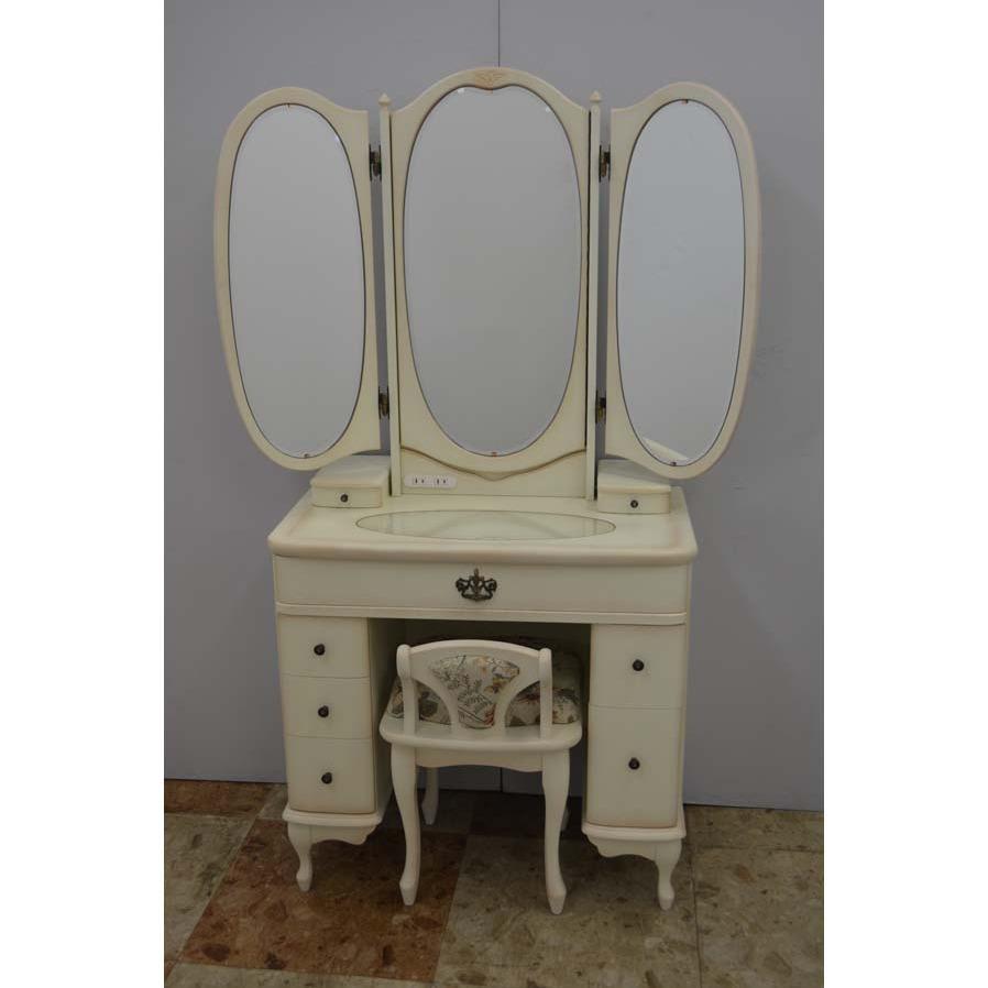 収納三面鏡フランソワ